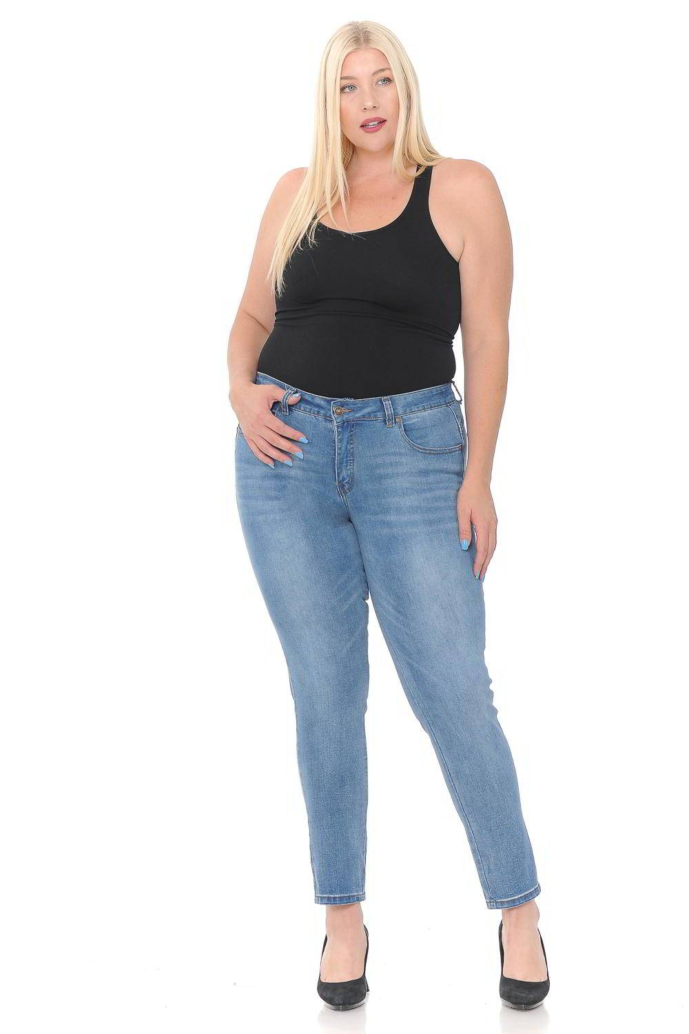 Sweet Look Premium Edition Women S Jeans Plus Size High Waist