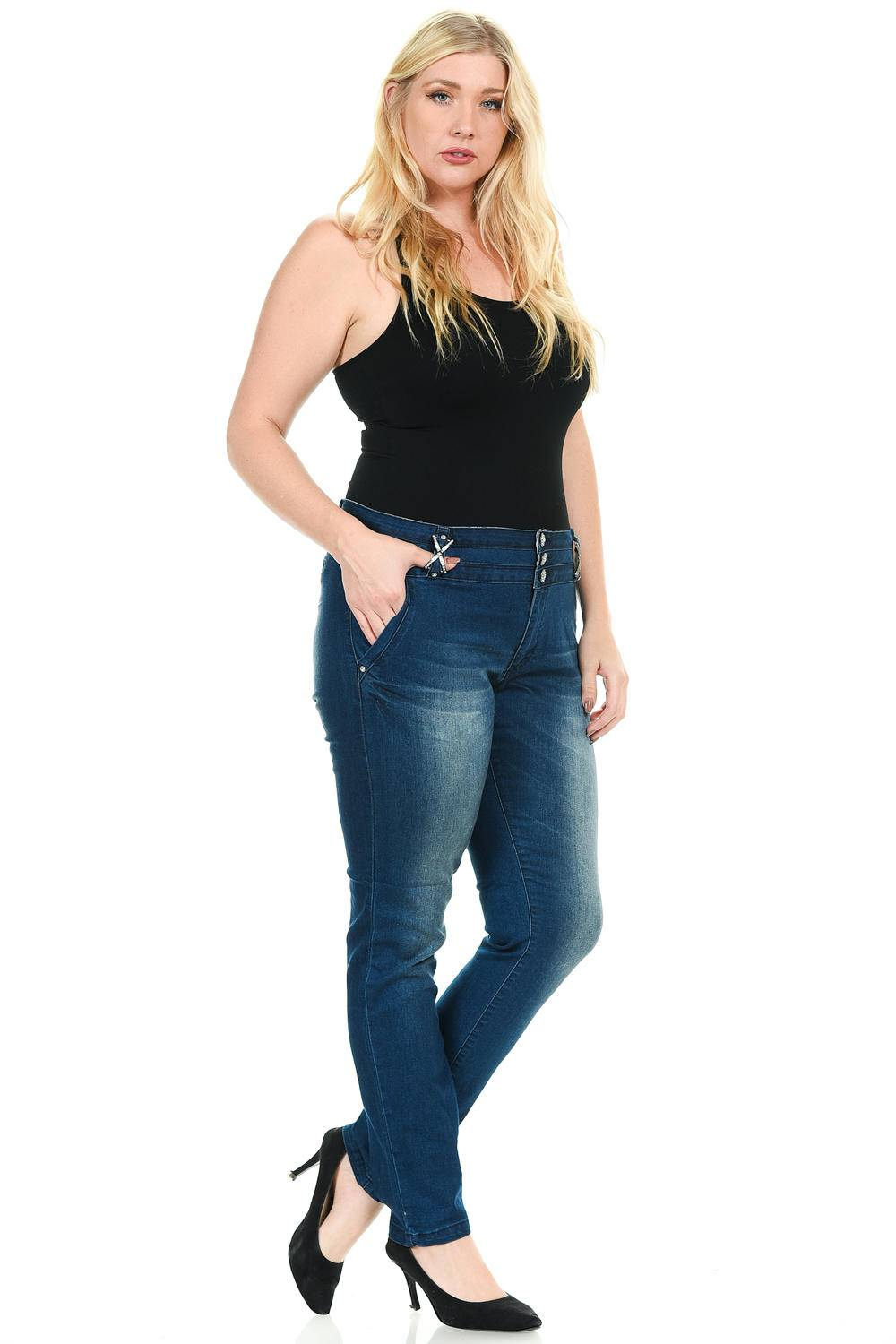 42fd9ac979a Sweet Look Premium Edition Women s Jeans (Sizing  14-24) · Plus Size · High  Waist · Push Up · Style 001