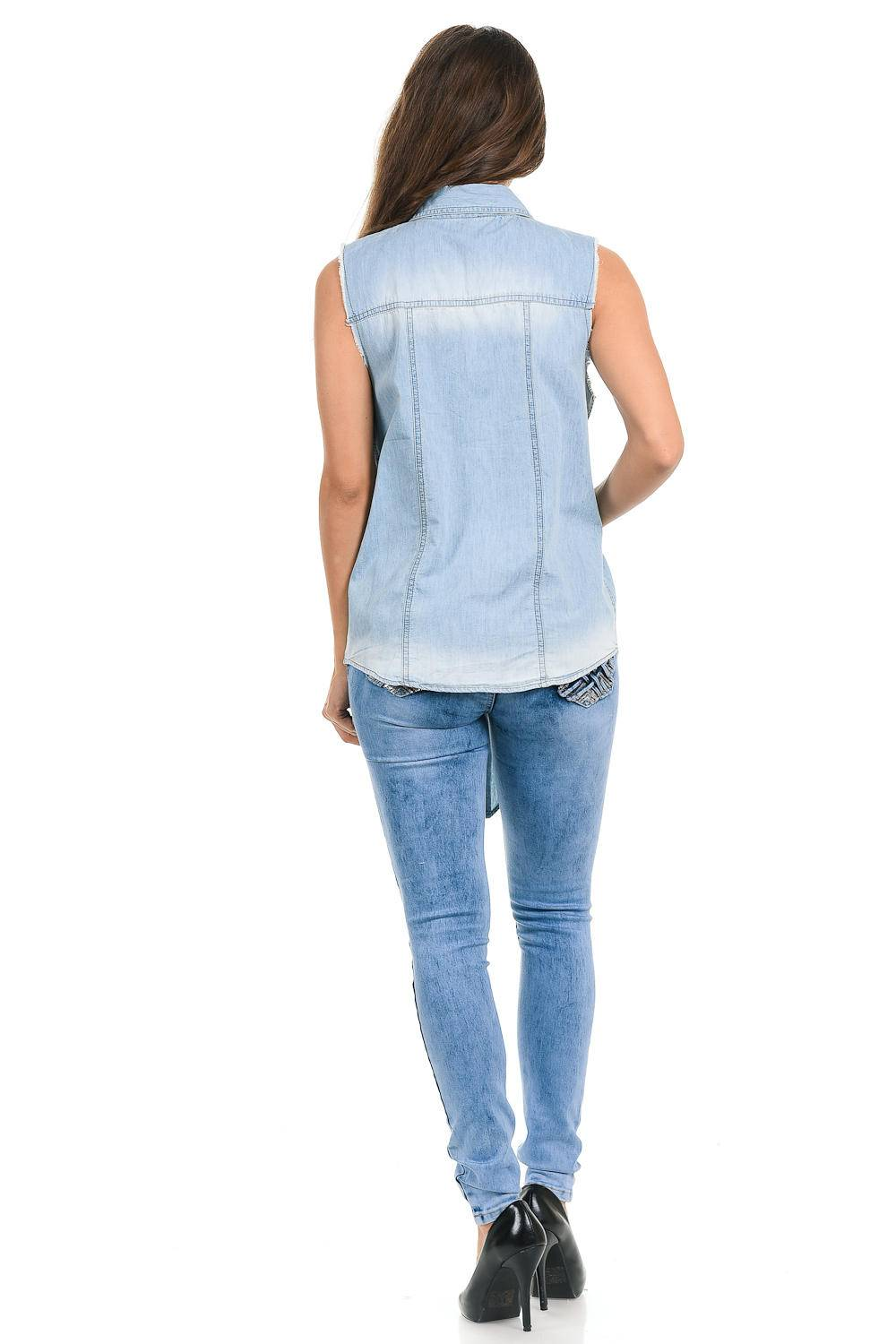 Sweet Look Women's Denim Blouse (Sizing: S-3XL) · Denim Shirt ...