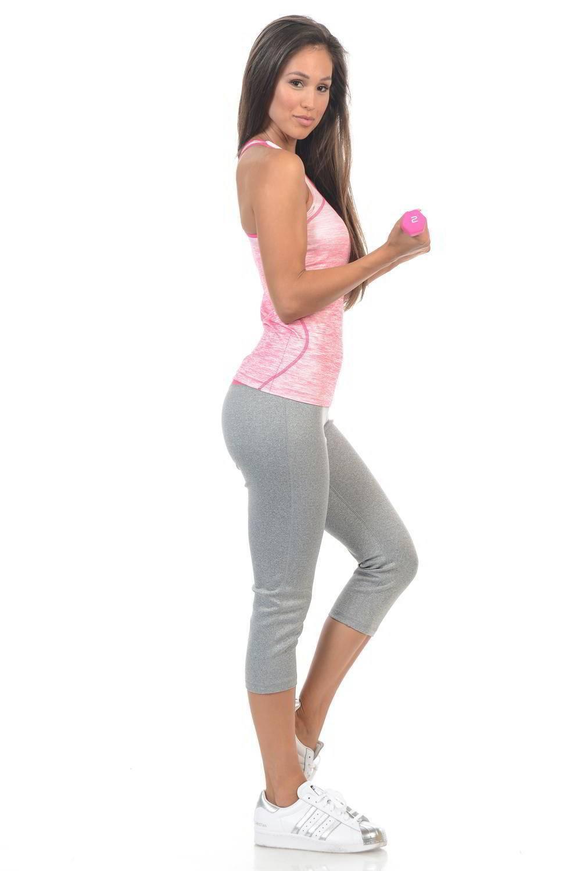 41f1a63690efc Diamante Women's Power Flex Yoga Pant Legging Sportswear (Sizing: S-L) ·  Capri · Style C010A